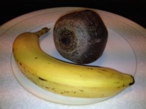 Rødbete og banan